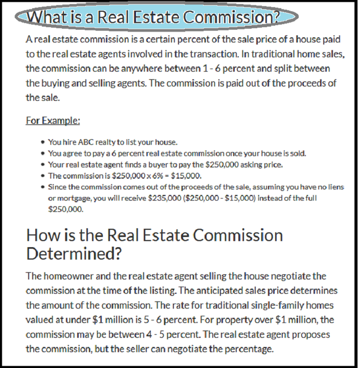Dc Fawcett Reviews - Commission for real estate transaction