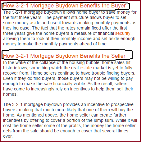 Buydown mortage - Dc Fawcett Scam